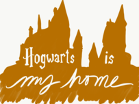 """Hogwarts is my home"" greeting card"