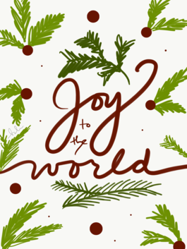 """Joy to the world"" Christmas cards (pack of 10)"