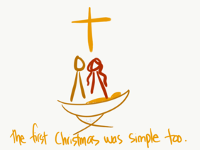 """First Christmas was simple too"" Christmas card (pack of 10)"